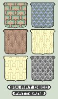six deco patterns by Plutos-Eye