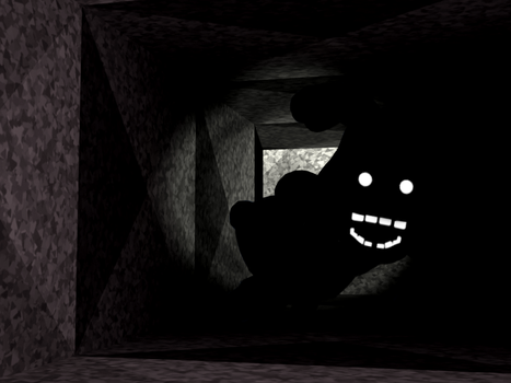 Shadow Bonnie In the Air Vent by A-Battery
