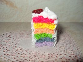 rainbow cake by Overlyretardedkawaii