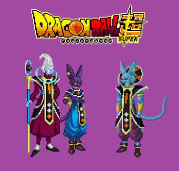 Sprites Fusion Beerus et Whis Dragon ball super by KartAlex
