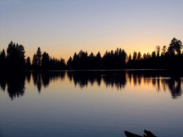 Manzanita Lake Sunset by Cynnalia-Stock