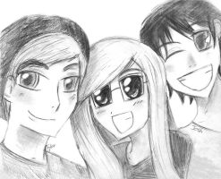 Friends From Church ^^ Josh, Tylor, Me by geek4life14