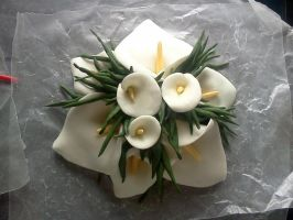 calla lilly cake topper by JadedFallenOne