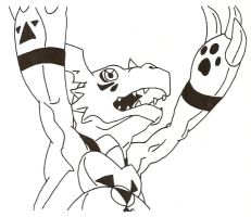 Guilmon Raises his Arms by Stonegate