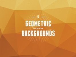 5 High Definition Geometric Backgrounds by bestpsdfreebies