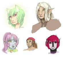 Another Pile of Headshots by VENXIA