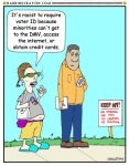 Voter ID cartoon by Conservatoons