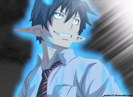 Rin Okumura Ao no exorcist by gaston18