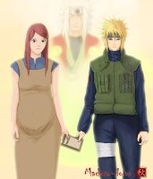 Minato and Kushina by madara-dono