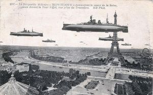 Aerodreadnoughts over Paris by ColorCopyCenter