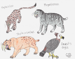 Prehistoric animals by Chimerathedragon