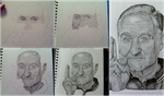 Robin Williams WIPs by NotAnotherFanArtist