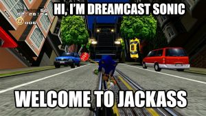 Jackass Dreamcast Sonic Edition by CreativeArtist-Kenta
