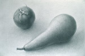Tomato and Pear. 2007 by Yudaev