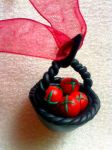 Polymer Clay Apple Basket by amerissa