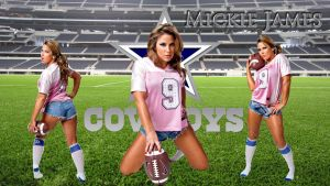 Dallas Cowboy Mickie James wp by SWFan1977