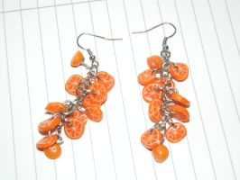 Simple orange earrings by laydiKroft