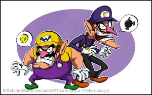 Wario and Waluigi by RatchetMario