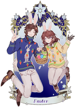 pvii: easter sweaters by yukihomu