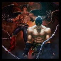 UFS Tekken 6 : Devil Jin by Webcomicfan