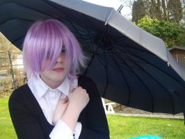 Crona and his umbrella by CrystaltheEchidna01