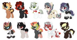 All of My Ponysonas by Pawscratch