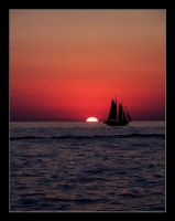 Sailing into the Sunset by morpheusredux