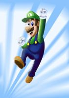 Video games tuseday speed drawing Luigi by IDROIDMONKEY