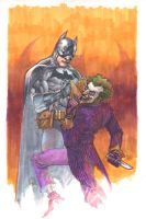 batman and joker markers by leinilyu