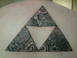 Zentangle induced Tri-force by Joshua-adam