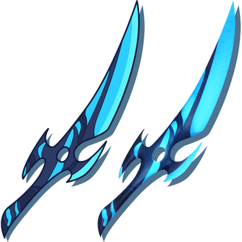 Shadow's Blue Moon Blade of the Crescent Moon by CharactersByChaos