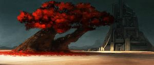 Red Tree by TimoMimus