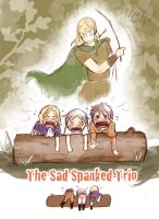 Spanked Trio by Arkham-Insanity