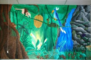 Giant Rainforest Mural pt 3 by PonderosaPower