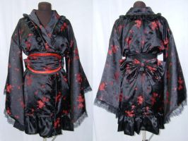 Black and Red Lolita Kimono by Gypsy-Red