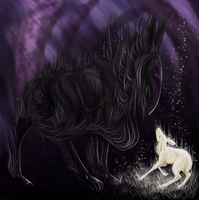 The Crow and the Fawn by Nyctra