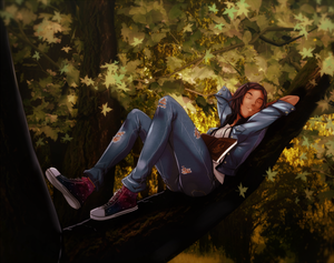 Commission_sleepy on tree by sbel02