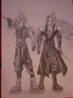 cloud and sephiroth by Kansuli