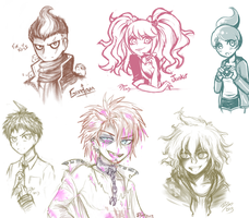 Dangan Doodles by firehorse6