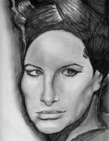 Young Barbra Streisand by SeleanRidley