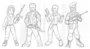 Left 4 Dead - Pencils by Marvelousboy