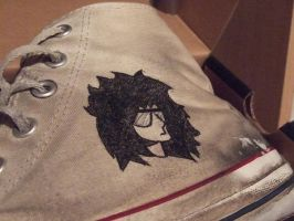 Custom Converse by Twiggy8520