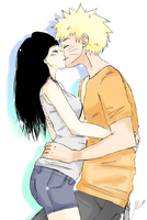 Naruhina [Art trade] by Kiktion