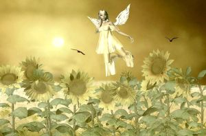 Angel of The Sunflowers by VisualPoetress