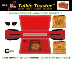 Red Dwarf - Talkie Toaster by mikedaws