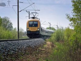 1047 005-2 with IC train -Gyor by morpheus880223