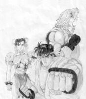 Street Fighter Manga cover by zentron