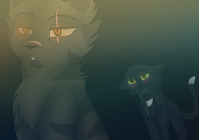 Tigerclaw X Ravenpaw by 1AN1