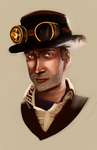 Steam Punk Portrait by vandalk