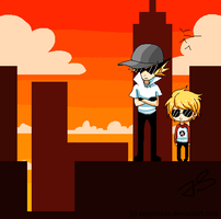 Bro and Dave Strider  BACKGROUND by Timeless-Knight